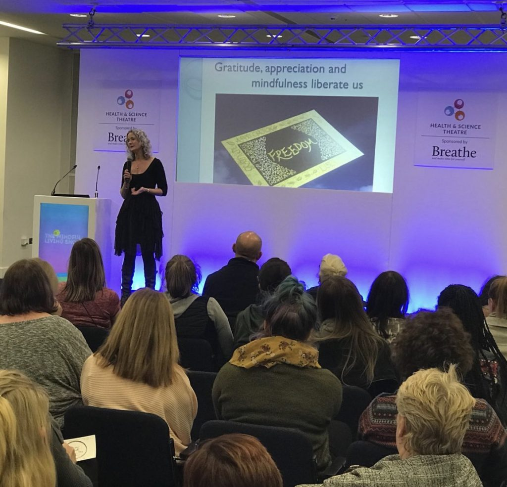 Katie Sheen Mindful Eating at The Mindful Living Show Manchester 2018